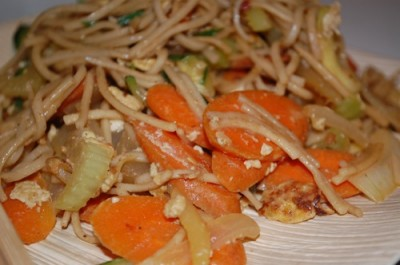 01 jap chae pad thai 400x265 Tasty Tuesday: Peanutty Jap Chae Recipe with Soba Noodles