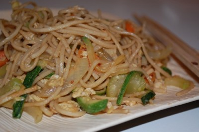 03 jap chae pad thai 400x265 Tasty Tuesday: Peanutty Jap Chae Recipe with Soba Noodles
