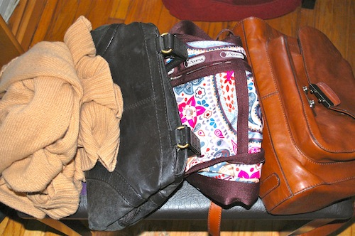 05 purses sweater No Checked Bags: 9 Days in 1 Carry On