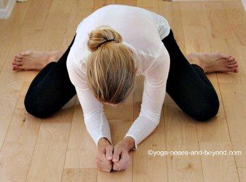 yoga frog pose Spring... (Flashback)