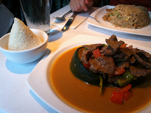 kabocha beef penang curry fried rice thai {food, yoga} Kabocha & Yoga Love, aka Labor Day Weekend