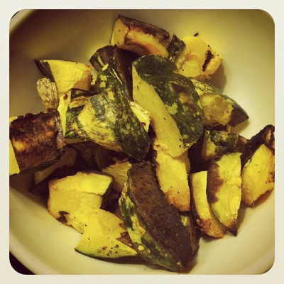 roasted kabocha 400x400 beets for brains [wiaw   what i ate wednesday]