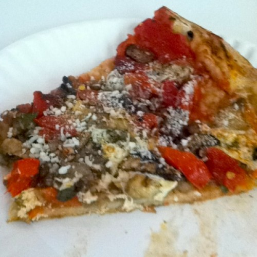 veggie pizza lombardis 500x500 Meal of the Day #2