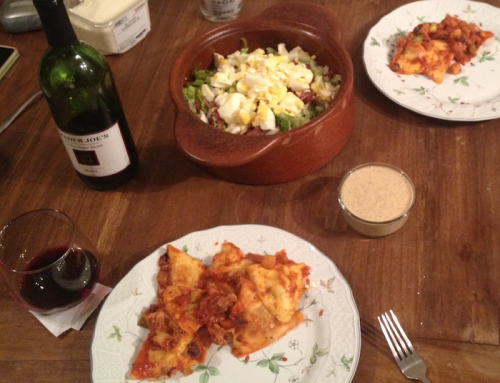 bobby-dinner-salad-ravioli-wine