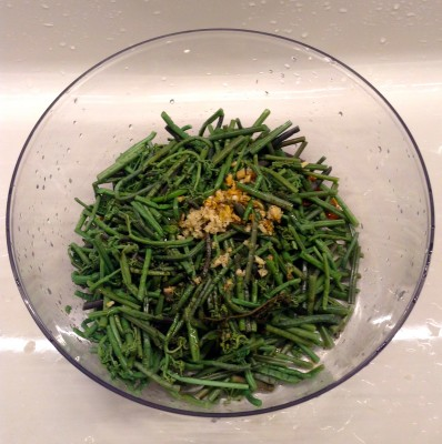 IMG 0006 398x400 {Macrobiotic March Recipe} Sauteed Sesame Fern Bracken / Fiddlehead Ferns