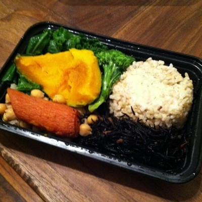 macro plate takeout souen 400x400 {Macrobiotic March} Some Macrobiotic Meals (at home and out!)