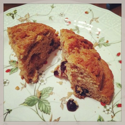macrobiotic scone souen cranberry orange 400x400 {Macrobiotic March} Some Macrobiotic Meals (at home and out!)