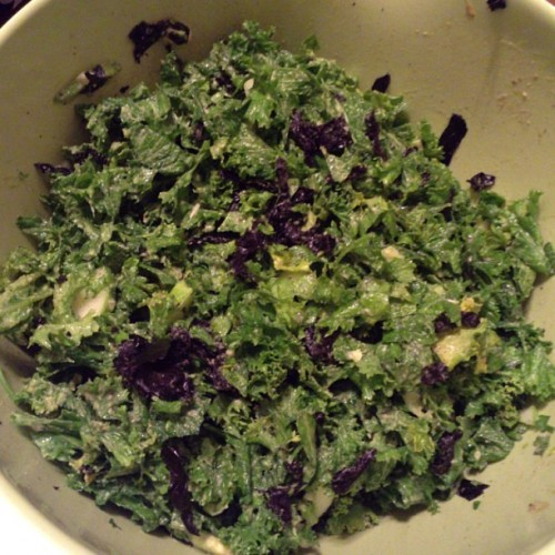 kale mustard green salad seaweed avocado goop 500x500 July Shenanigans & Recipes...