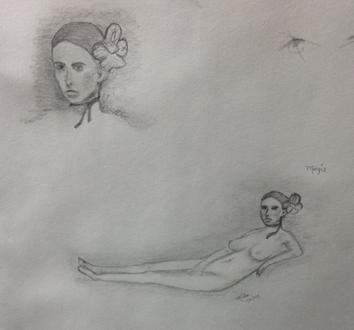 figure drawing Thanksgiving and Pregnancy Updates
