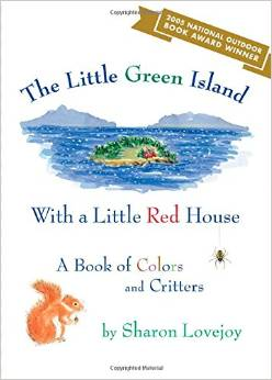 little green island with a little red house
